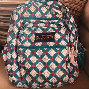 Jansport Backpack Multicolor Checkered Design Blue